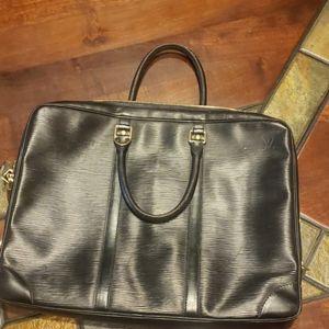 Louis Vuitton Black Epi Computer bag